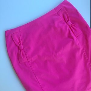 🎀 Pink Bow Pencil Skirt 🎀
